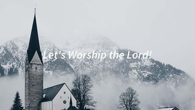 Let's Worship the Lord