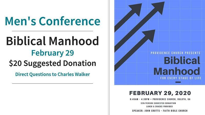 Biblical Manhood Men's Conference