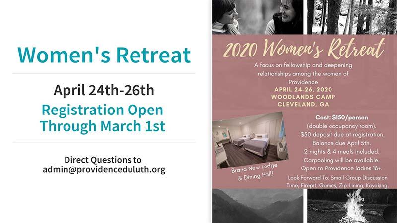 Women's Retreat Apr, 2020