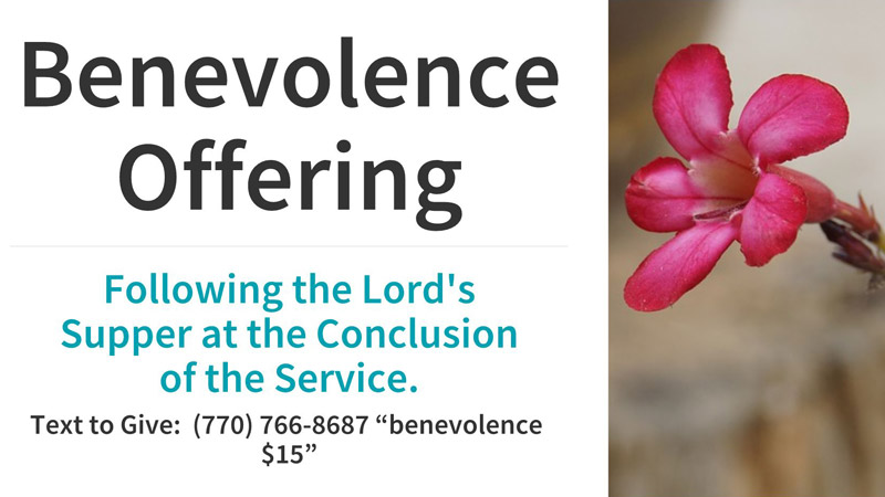 Benevolence Offering
