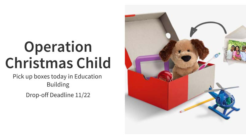 Operation Christmas Child Deadline 11/22/2020