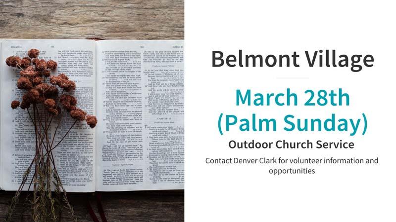 Belmont Village Palm Sunday