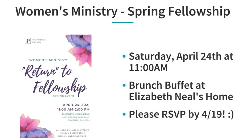 Women's Ministry Spring Fellowship