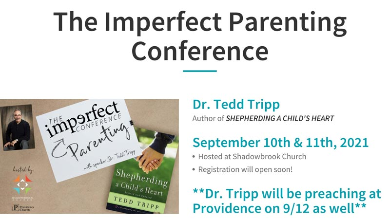 Announcement Imperfect Parenting Conference