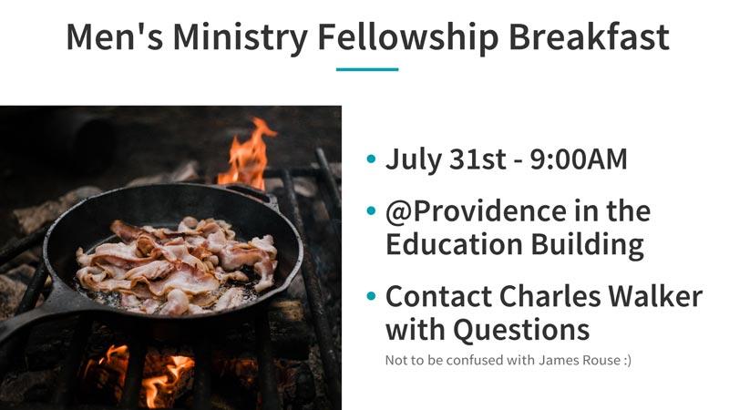 Men's Ministry Fellowship Breakfast