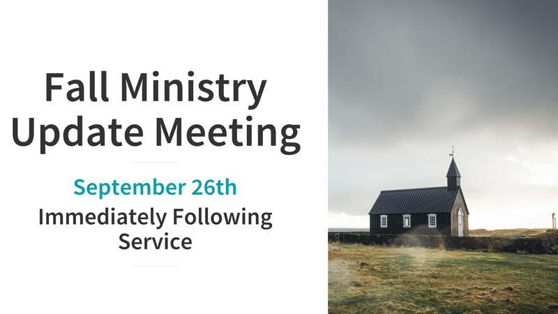 Ministry Update Meeting